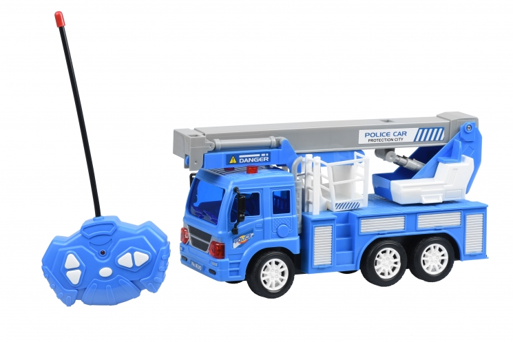 Same Toy Машинка на р/у CITY Кран (синий)