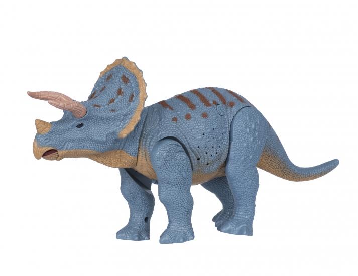 Same Toy Динозавр голубой со светом и звуком (Трицератопс)