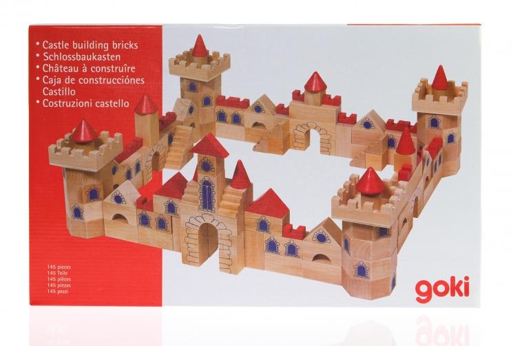 goki Конструктор деревянный Замок маленький