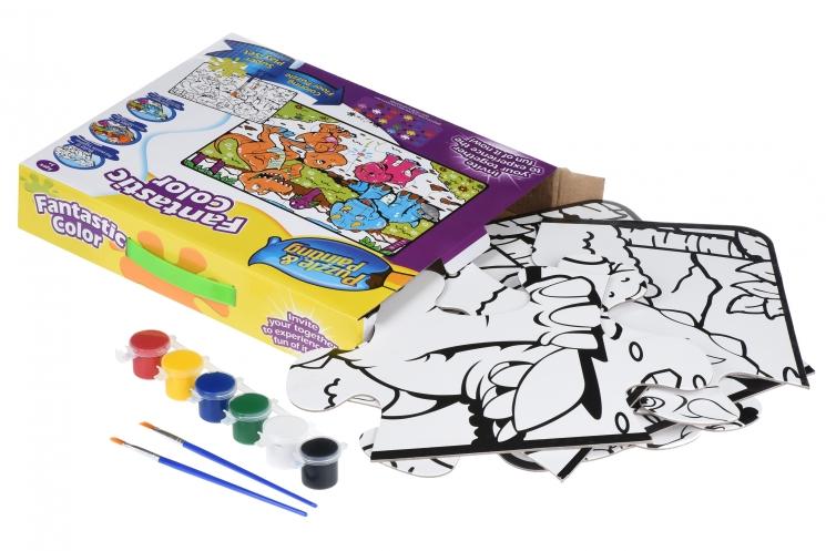 Same Toy Пазл-раскраска Динозавры