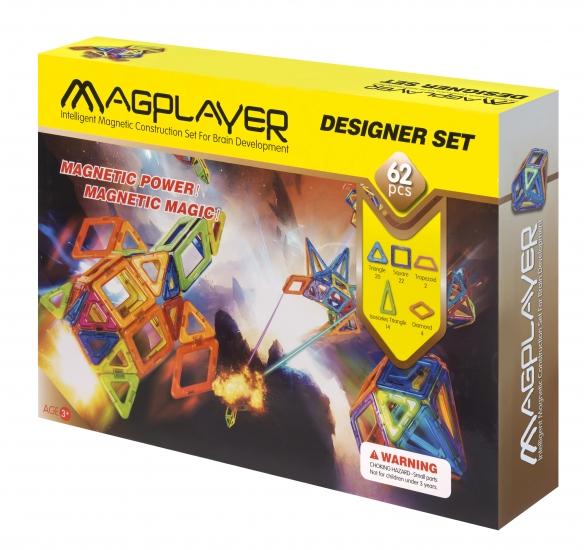 MagPlayer Конструктор магнитный 62 ед. (MPB-62)