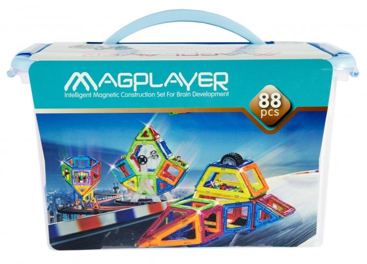 MagPlayer Конструктор магнитный 88 ед. (MPT-88)