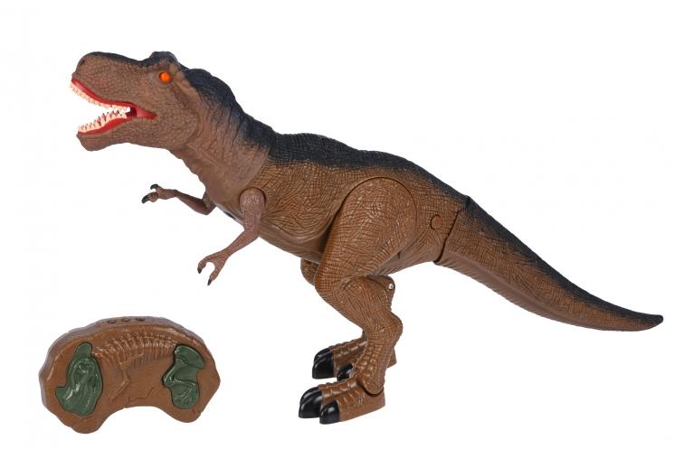 Same Toy Динозавр коричневый со светом и звуком (Тиранозавр)
