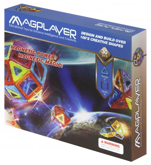 MagPlayer Конструктор магнитный 30 ед. (MPB-30)