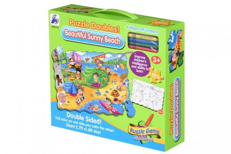 Same Toy Пазл-раскраска Солнечный пляж