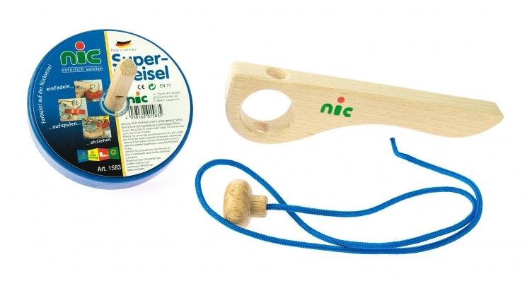 nic Игра деревянная Юла (синяя)