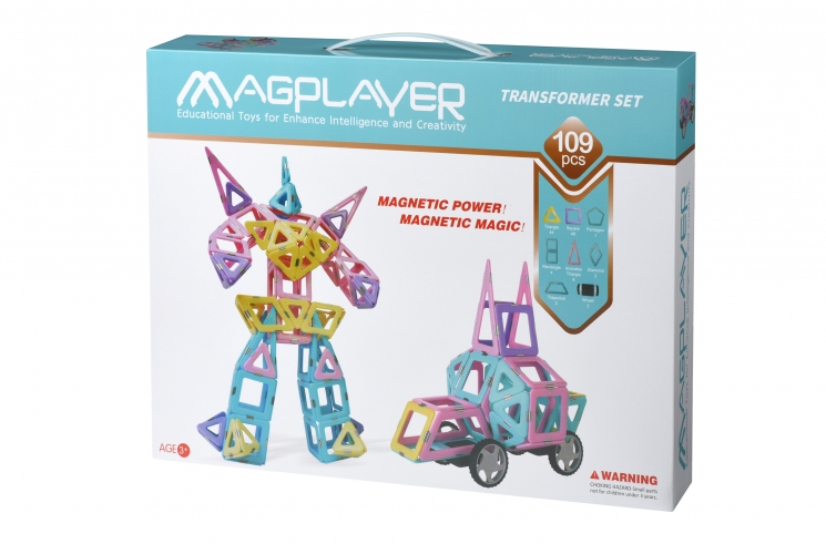 MagPlayer Конструктор магнитный набор 109 эл. (MPH2-109)