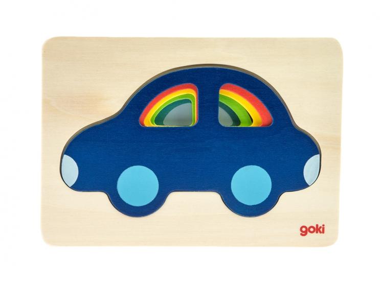 goki Развивающая игра Разноцветные машинки