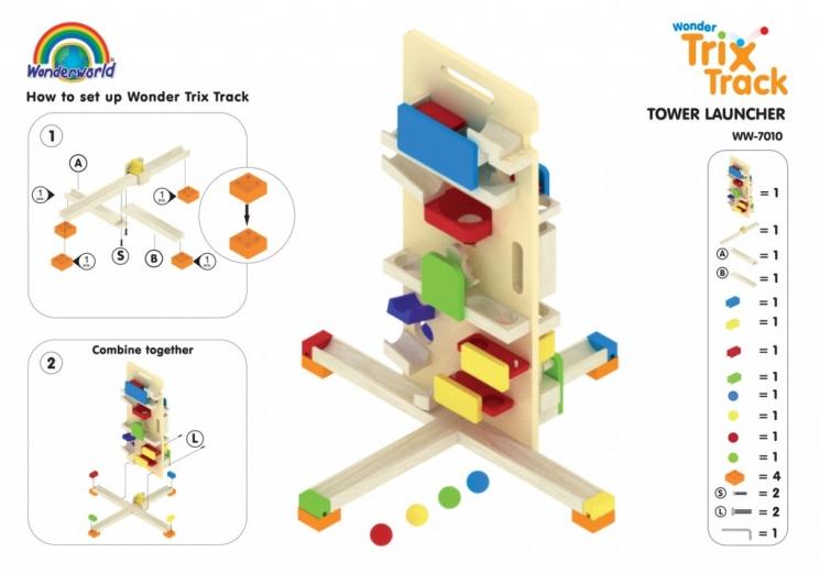 Wonderworld Конструктор Trix Track Башня