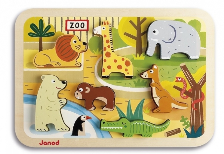 Janod Пазл-вкладыш Зоопарк