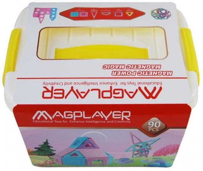 MagPlayer Конструктор магнитный набор бокс 90 эл. (MPT2-90)