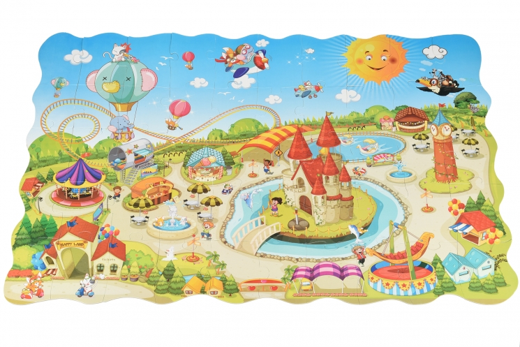 Same Toy Пазл-раскраска Парк развлечений