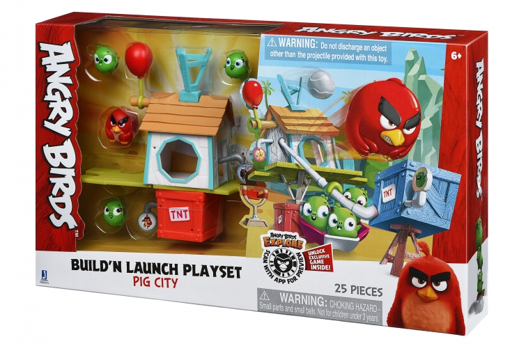 Angry Birds Игровая фигурка ANB Medium Playset (Pig City Build 'n Launch Playset)