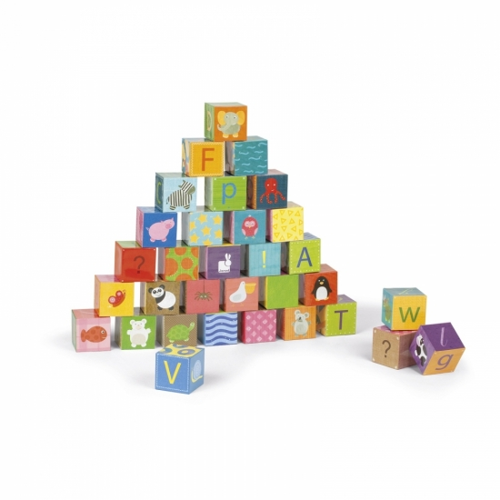 Janod Кубики картонные  - Алфавит
