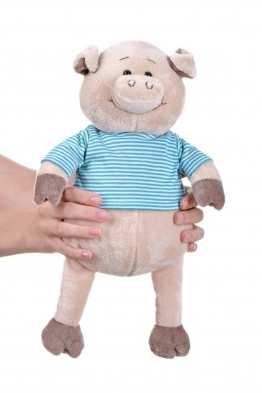 Same Toy Свинка в тельняшке (голубой) (35 см)