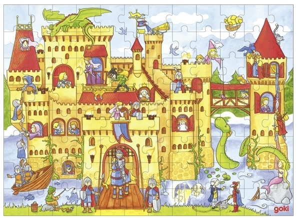 goki Деревянный пазл Рыцарский замок