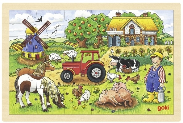 goki Деревянный пазл Ферма мистера Миллера