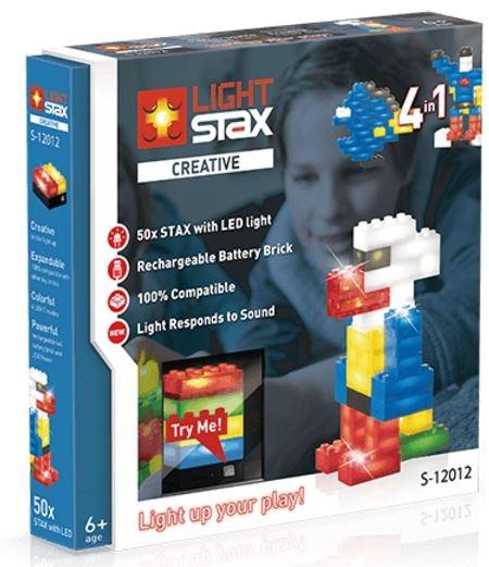 LIGHT STAX Конструктор с LED подсветкой Creative 4в1 з датчиком звука LS-S12012