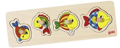 goki Пазл-вкладыш Рыбки