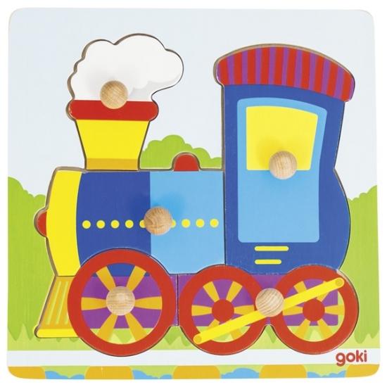 goki Пазл-вкладыш Поезд