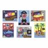Janod Кубики картонные  - Пираты