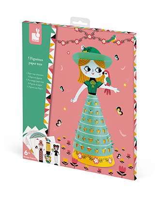 Janod Набор для творчества - Куклы из бумаги