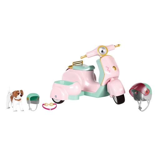 LORI Транспорт для кукол - Скутер с коляской и собачкой