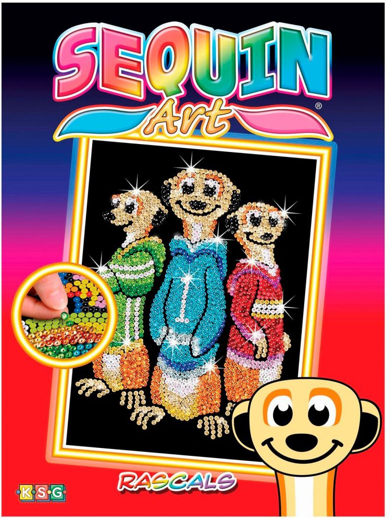 Sequin Art Набор для творчества RED Rascals Meerkats