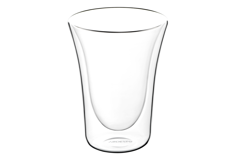ARDESTO Набір чашок з подвійними стінками, 300 мл, H 12,5 см, 2 шт, боросилікатне скло