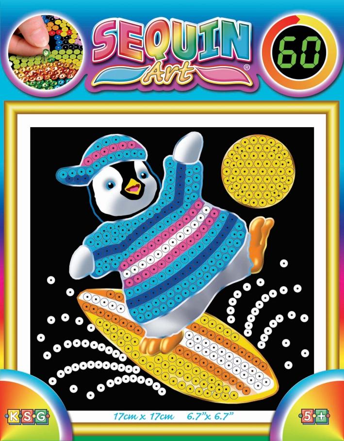 Sequin Art Набір для творчості 60 Penguin