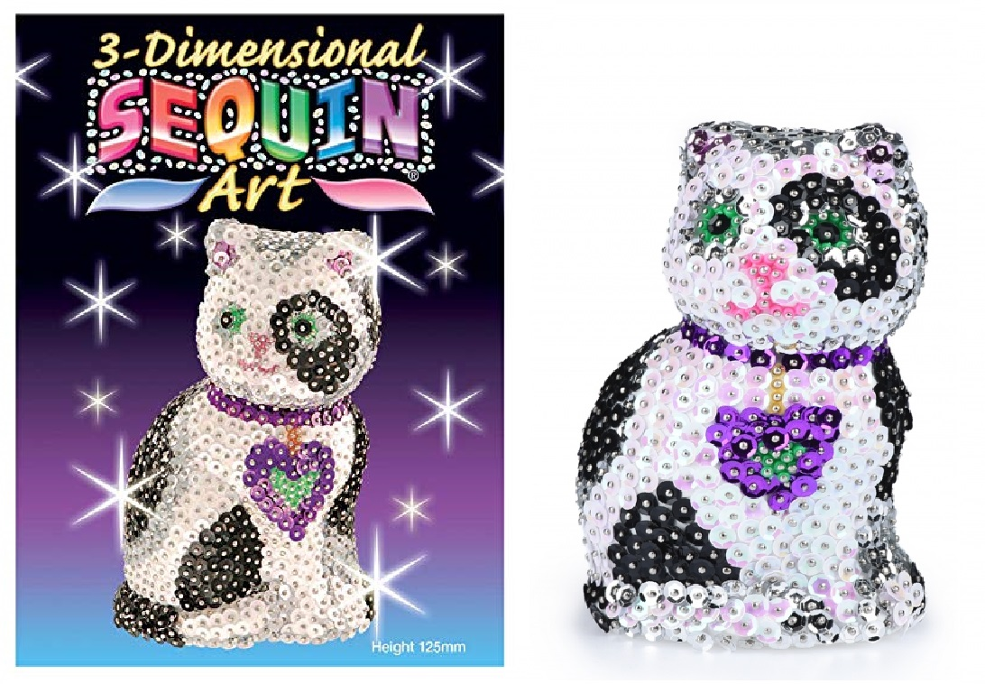 ebe411a29a8125 Набір для творчості 3D Cat SA0501 – це котик, якого можна прикрасити  паєтками та блискітками, зробивши унікальну та по-справжньому оригінальну  фігурку.