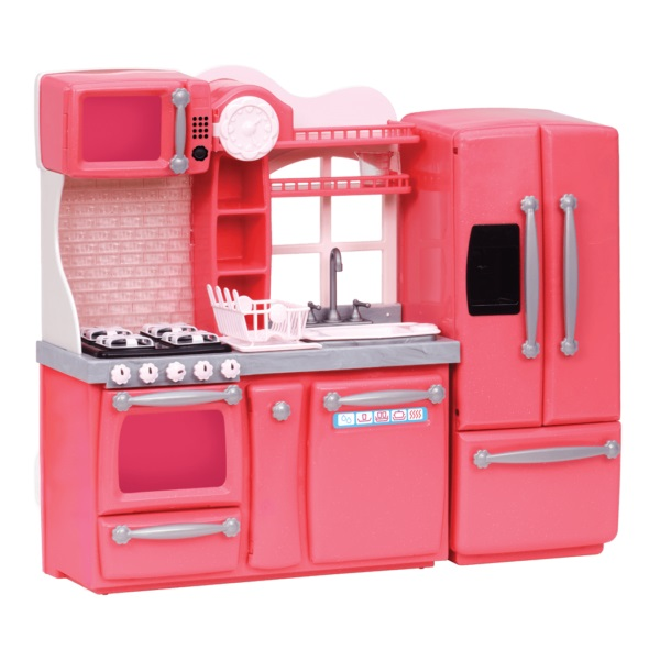 Our Generation Набор мебели - Кухня для гурманов, 94 аксессуара,  розовая