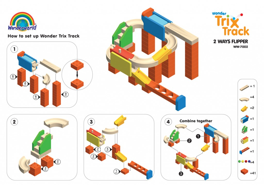 Wonderworld Конструктор Trix Track Флиппер