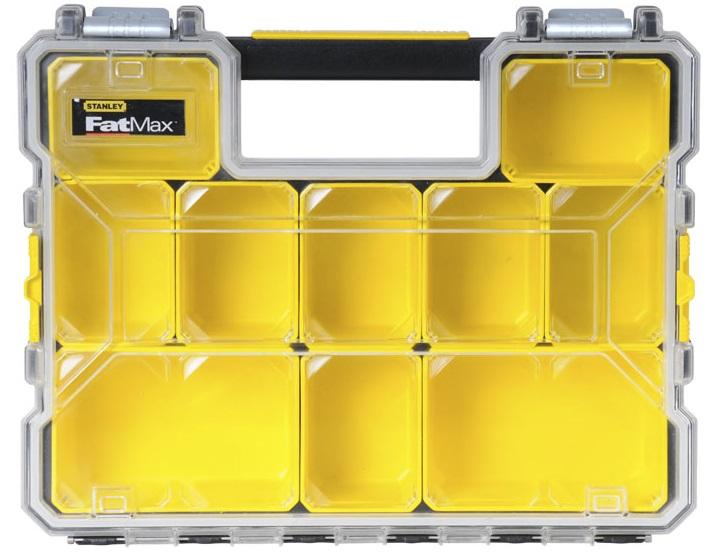 Stanley Ящик-органайзер пластмасовий вологозахисний з метал. замками (44,6 x 11,6 x 35,7)