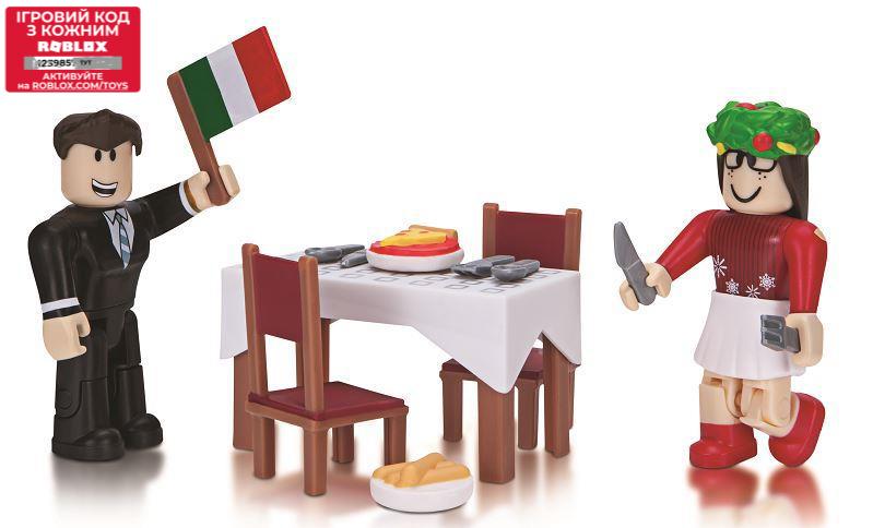 Roblox Игровая коллекционная фигурка Game Packs Soros Fine Italian Dining, набор 2 шт.