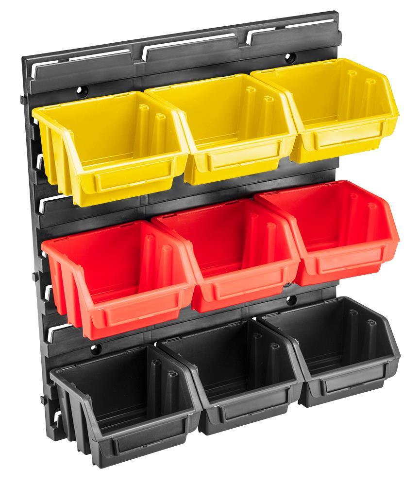 Topex 79R170 Панель для мастерской, с лотками, 34.5 x 38.5 x 12.5 cm, пластик