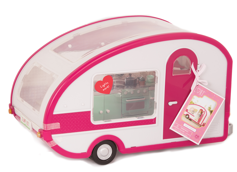 LORI Транспорт для ляльок - Кемпер рожевий