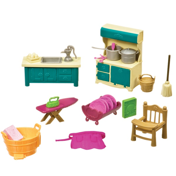 Li`l Woodzeez Игровой набор -  Кухонька и подсобная