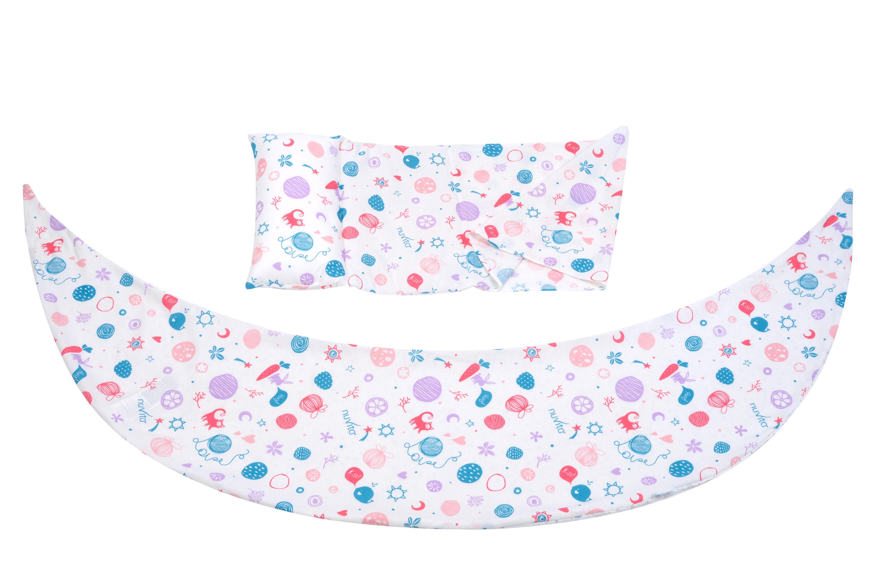 Nuvita Набір аксесуарів для подушки DreamWizard (наволочка, міні-подушка) Білий