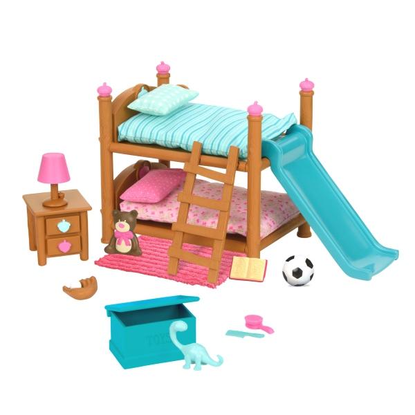 Li`l Woodzeez Ігровий набір - Двох'ярусне ліжко для дитячої кімнати