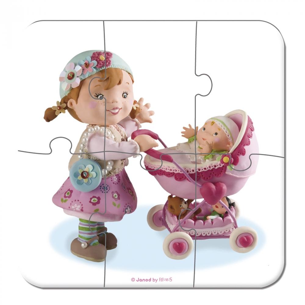 Janod Набір з 4 пазлів Лілу бавиться з ляльками