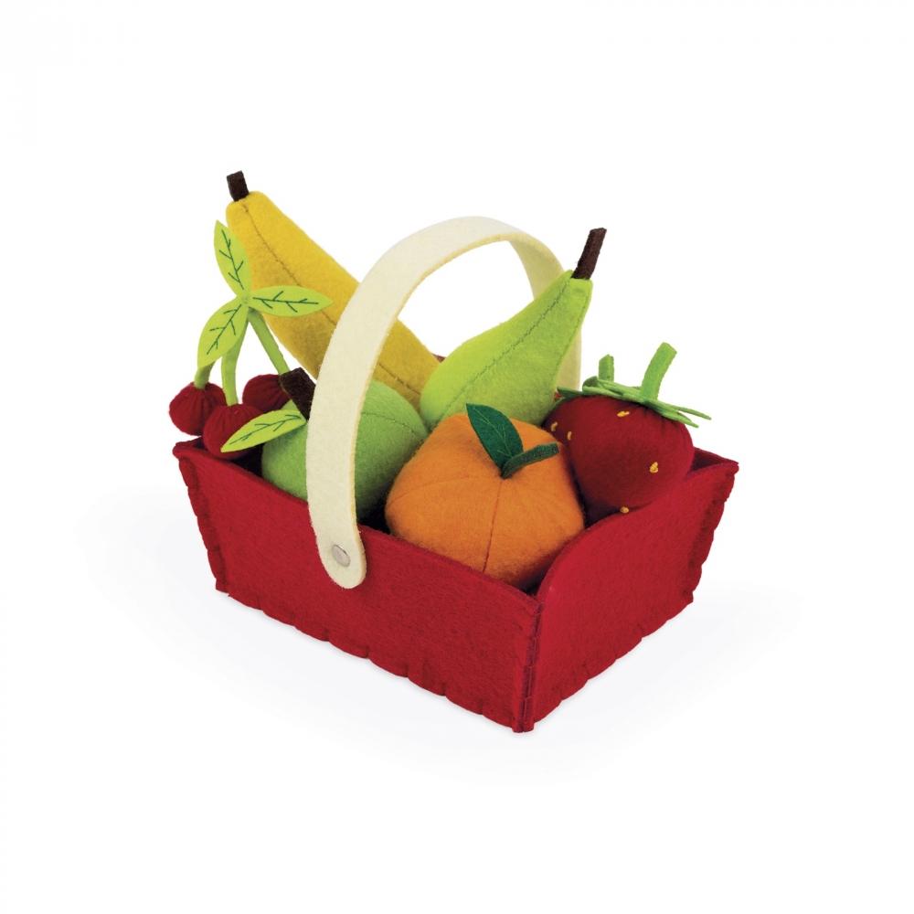 Janod Игровой набор - Корзина с фруктами (8 эл.)