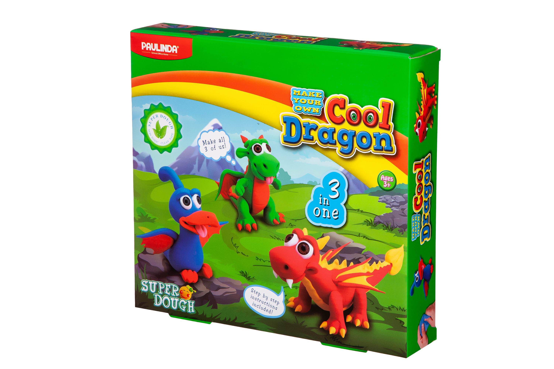 PAULINDA Масса для лепки Super Dough Cool Dragon Драконы 3 в 1