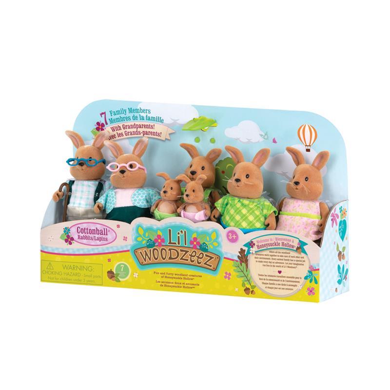 Li`l Woodzeez Набір фігурок - Велика Сім'я Кроликів 7 од.