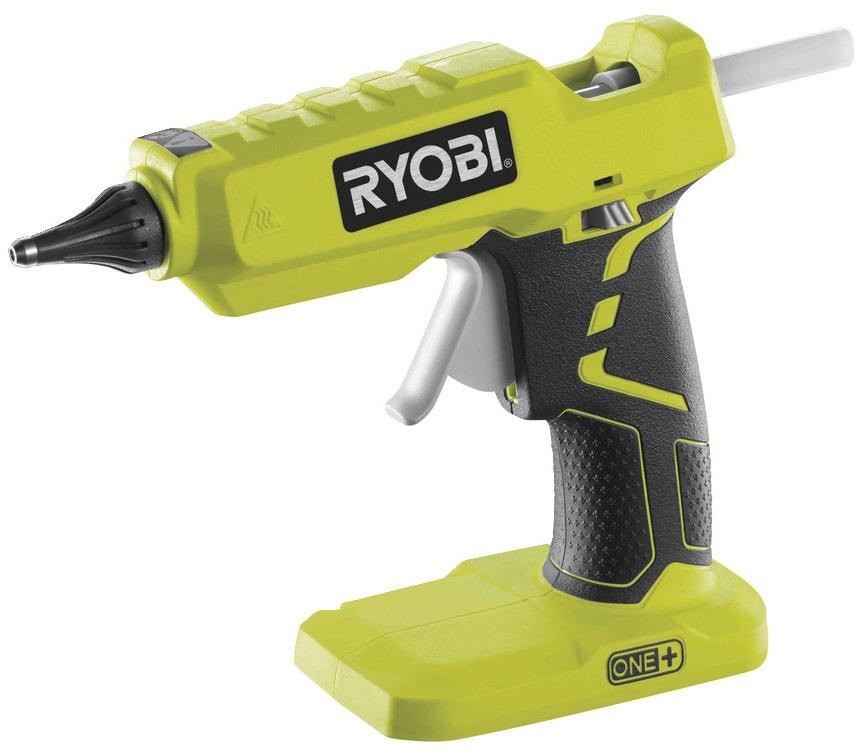 Ryobi Пістолет клейовий ONE + R18GLU-0 акумуляторний, 11 мм, Dсопла 3 мм, 18В, solo (без АКБ і ЗУ)