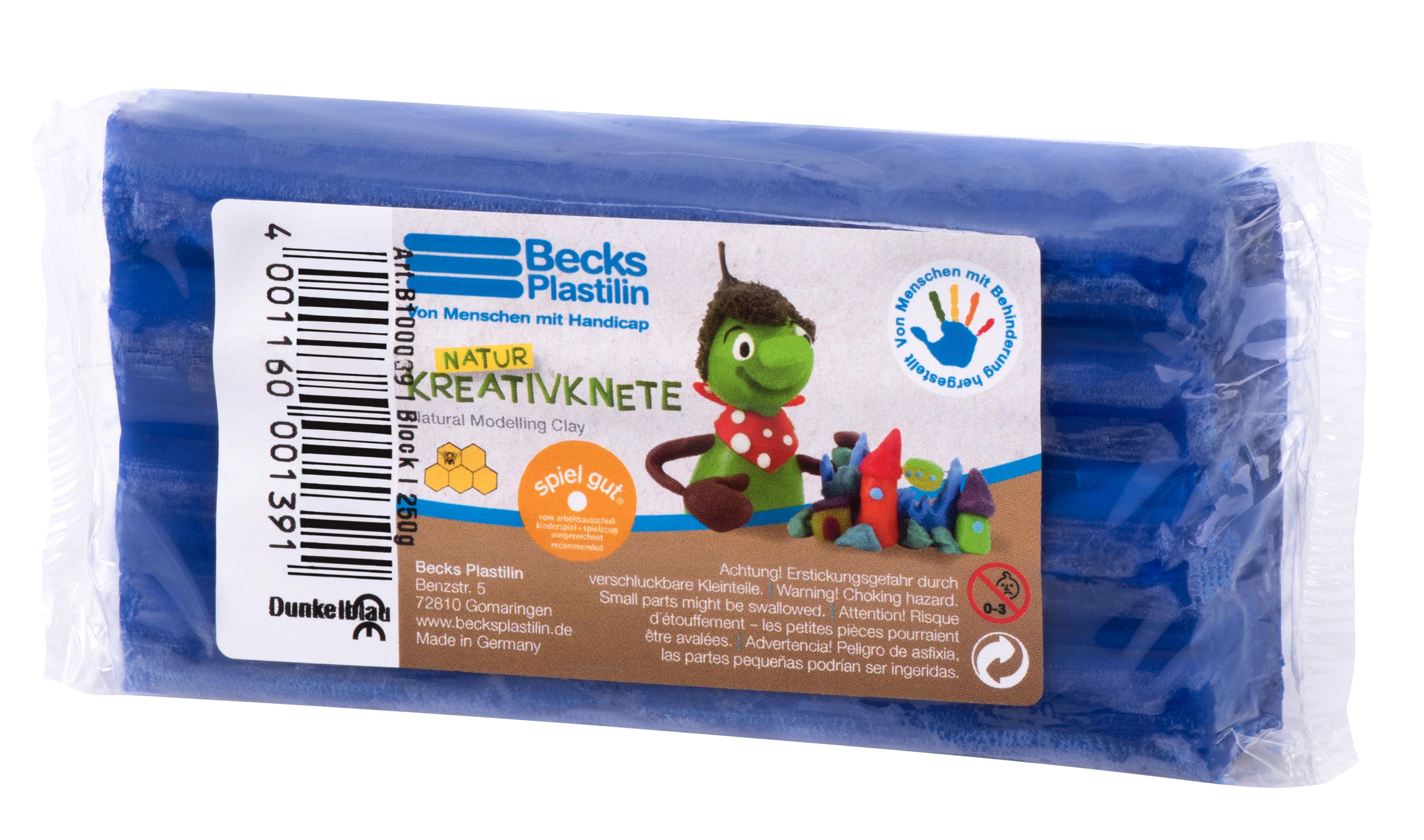 Becks Plastilin Набор пластилина 250г.  Темно-синий