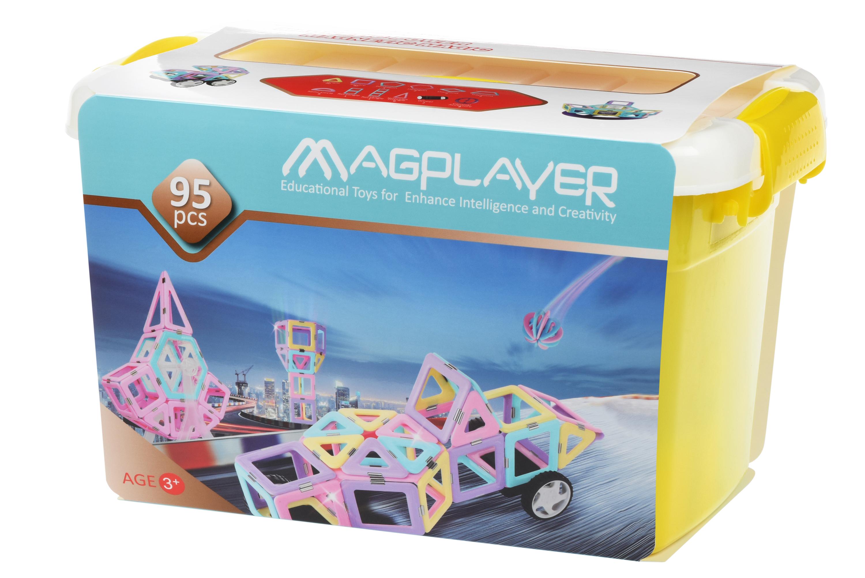 MagPlayer Конструктор магнитный набор бокс 95 эл. (MPT2-95)