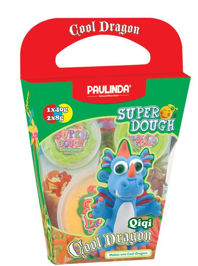 PAULINDA Маса для ліплення Super Dough Cool Dragon Дракон (блакитний)