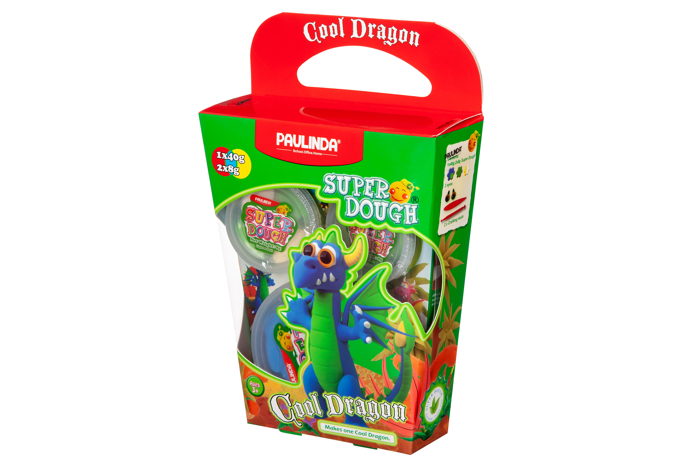 PAULINDA Маса для ліплення Super Dough Cool Dragon Дракон (синій)