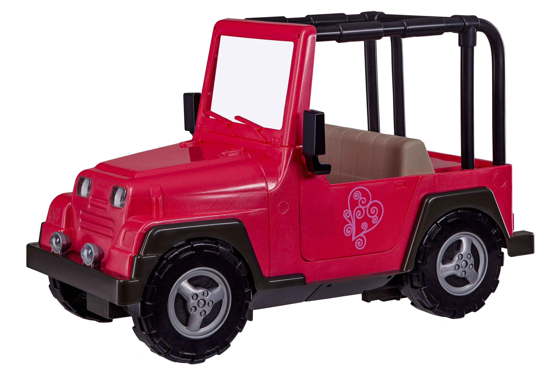 Our Generation Транспорт для ляльок - Рожевий джип з чорною рамкою